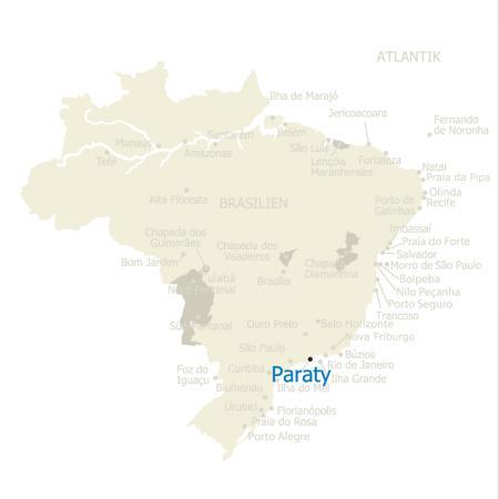 MAP Brasilien Karte Paraty