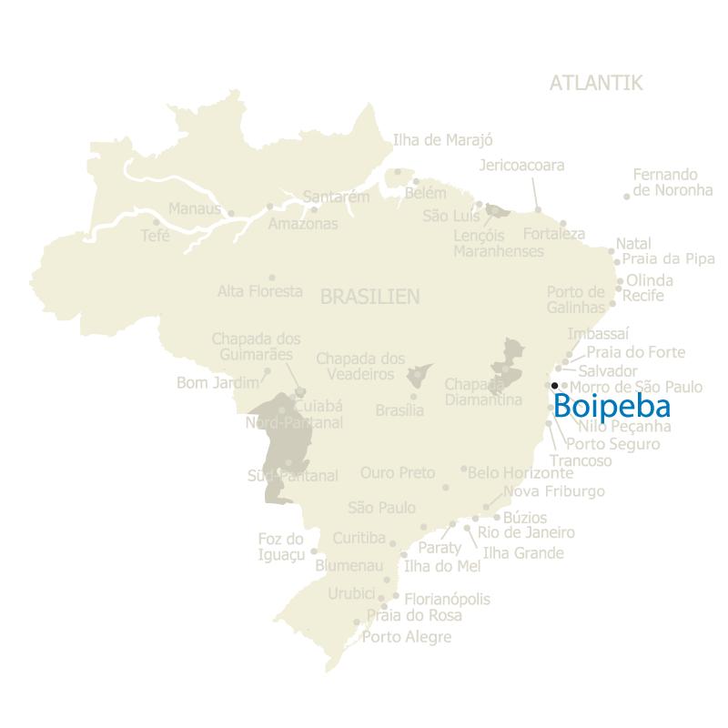 Boipeba Brasilien Karte