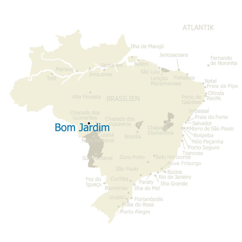 Bom Jardim Brasilien Karte