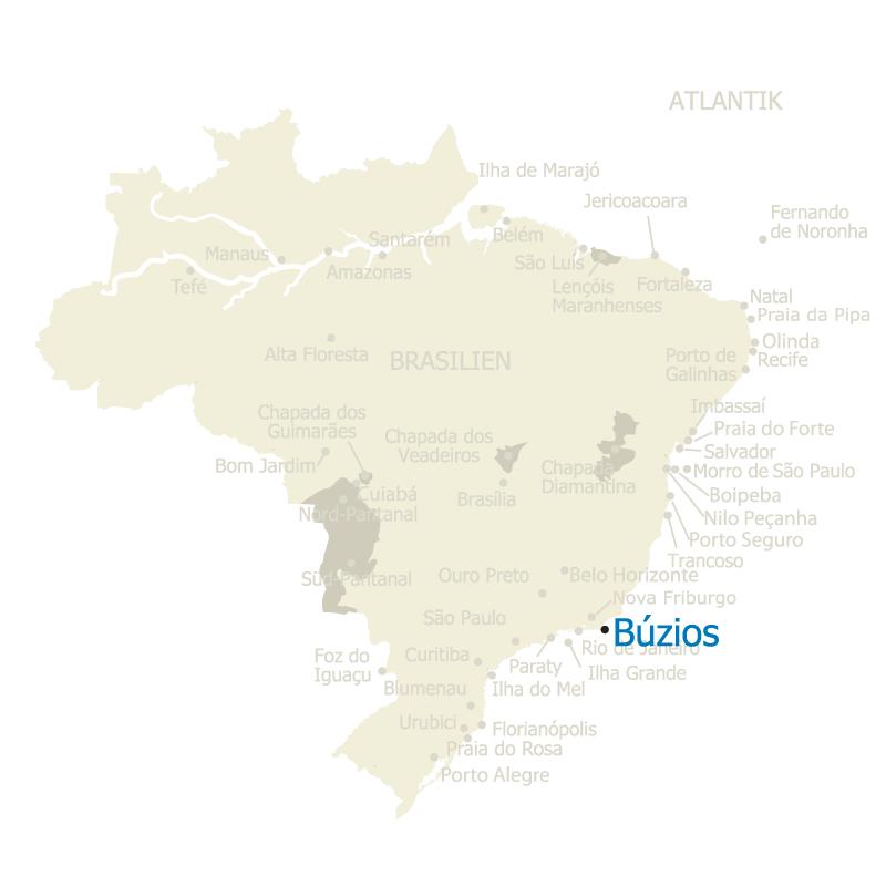 Buzios Brasilien Karte