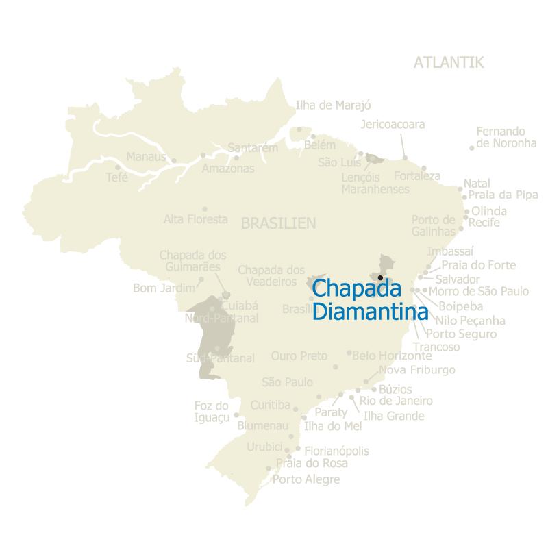 Chapada Diamantina Brasilien Karte
