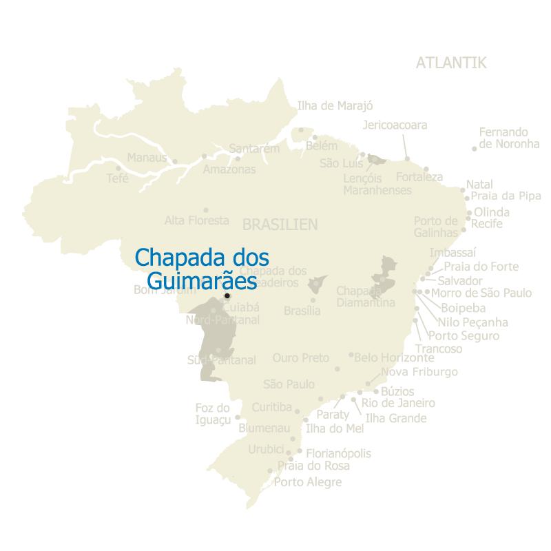 Chapada dos Guimaraes Brasilien Karte