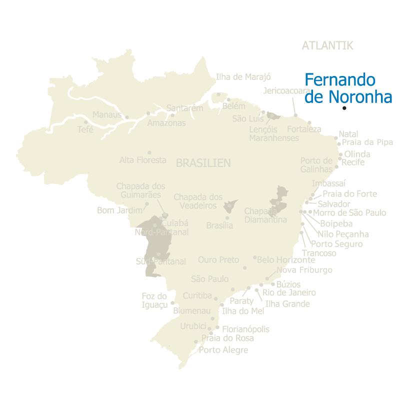 Fernando de Noronha Brasilien Karte