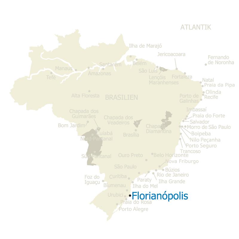 Florianopolis Brasilien Karte