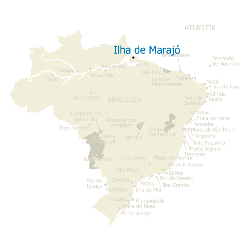 Ilha de Marajo Brasilien Karte