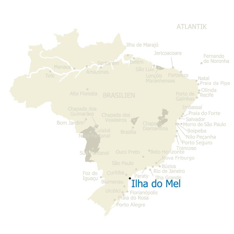 Ilha do Mel Brasilien Karte