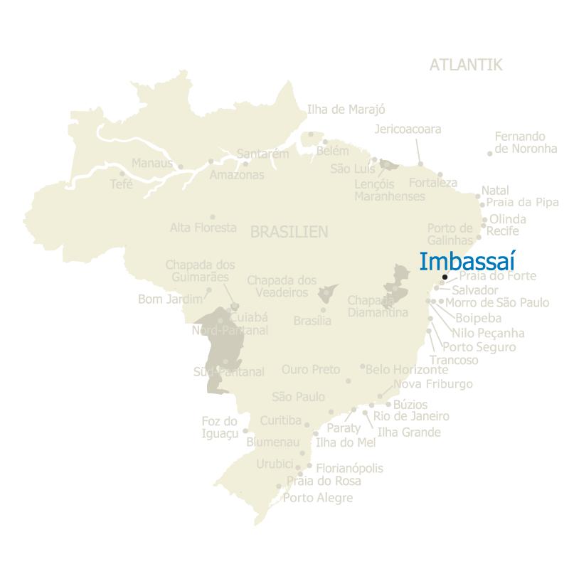 Imbassai Brasilien Karte
