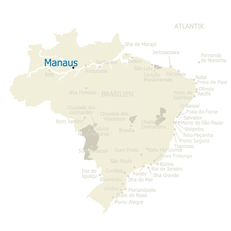 Manaus Brasilien Karte