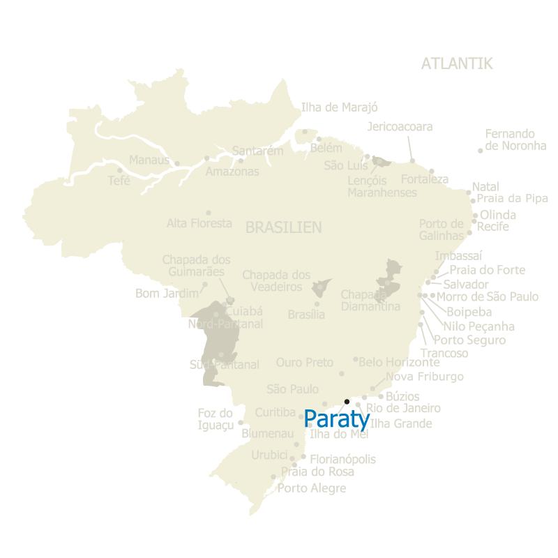 Paraty Brasilien Karte