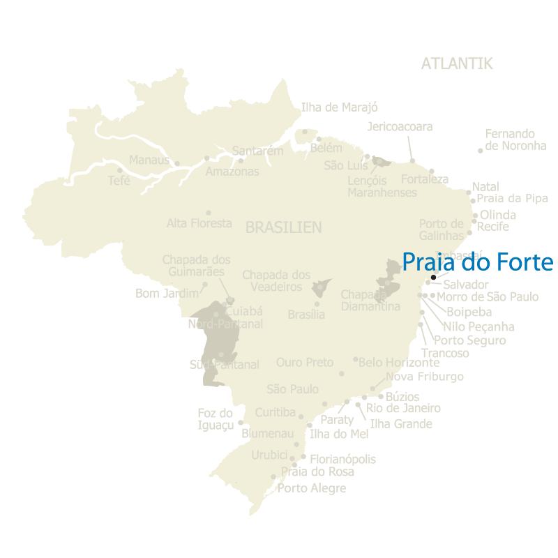 Praia do Forte auf der Karte Brasiliens