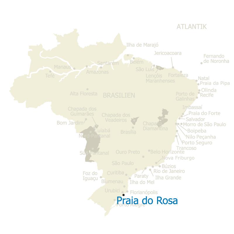 Praia do Rosa auf der Karte Brasiliens