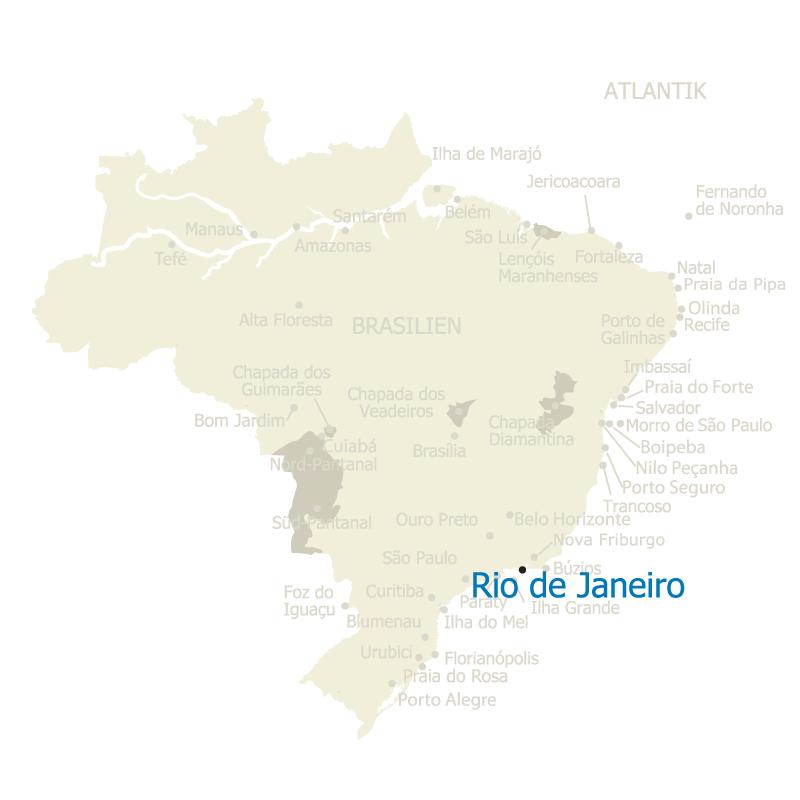 Rio de Janeiro Brasilien Karte