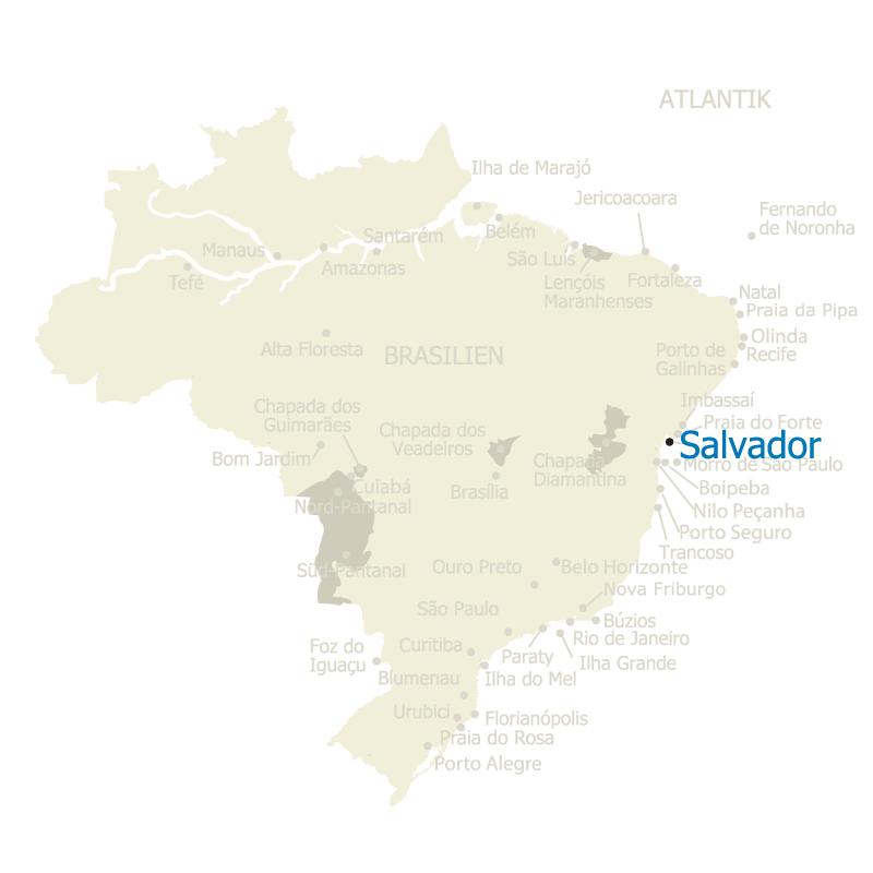 Salvador Brasilien Karte
