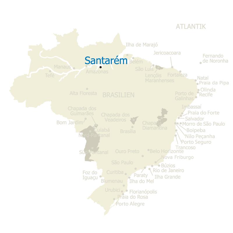 Santarém, eine Großstadt in der Amazonas Region im Bundestaat Pará