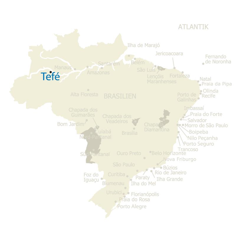 Lage Tefe Brasilien Karte