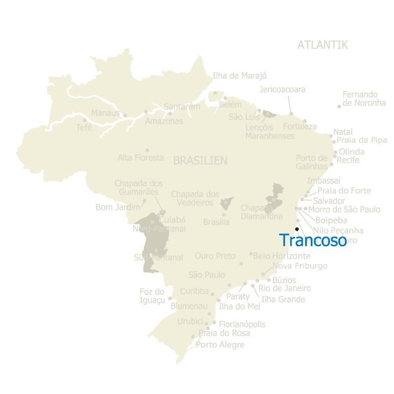 Trancoso auf der Karte Brasiliens
