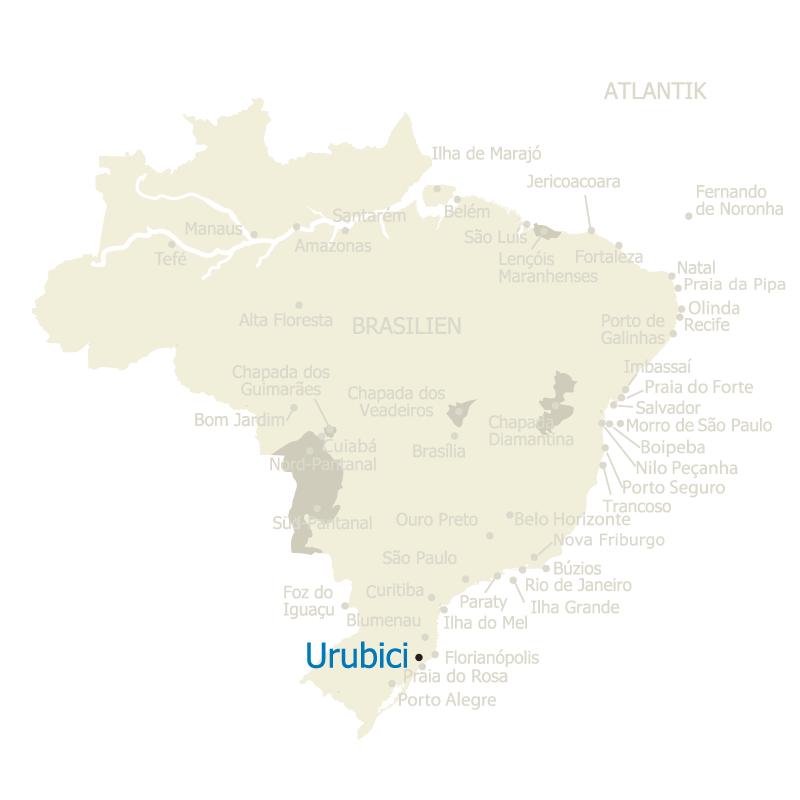 Lage Urubici Brasilien Karte