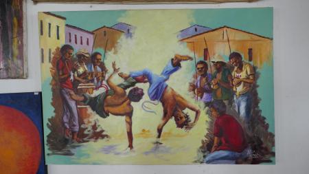 Historisches Bild von Capoeiristas in Salvador