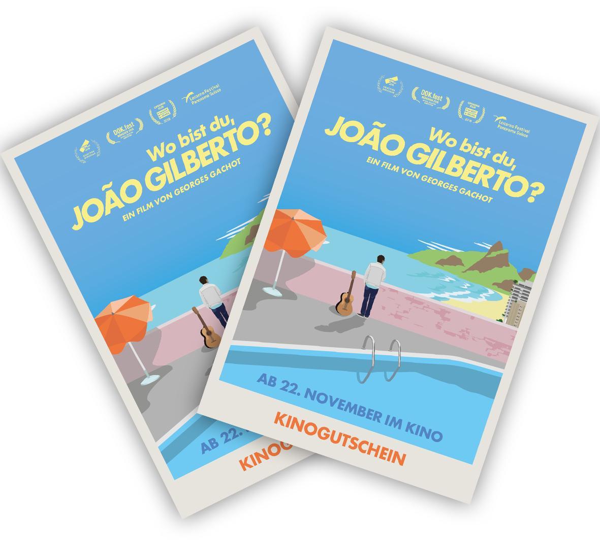 Kinogutscheine für Film über Joao Gilberto