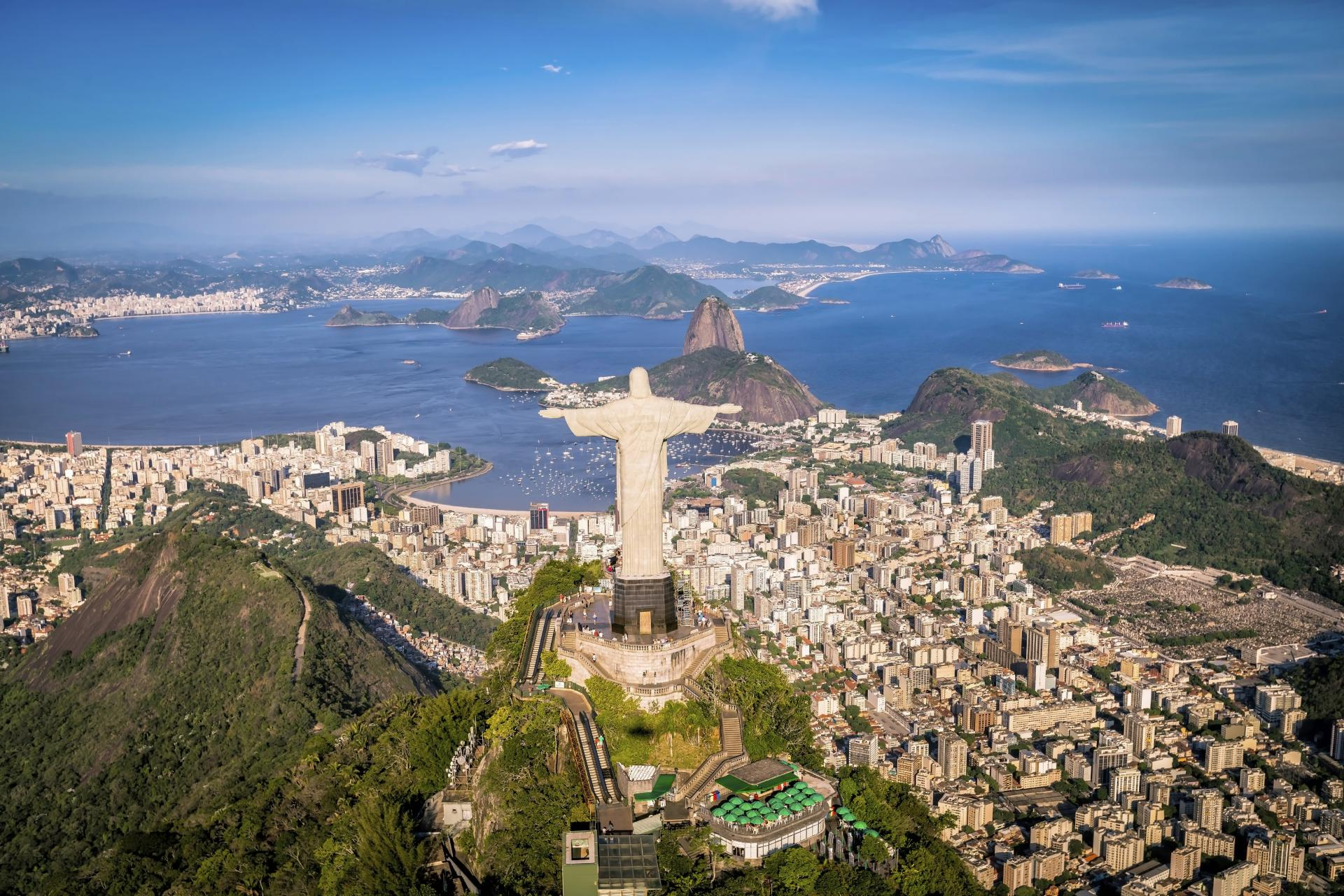 Luftaufnahme von Rio de Janeiro in Brasilien