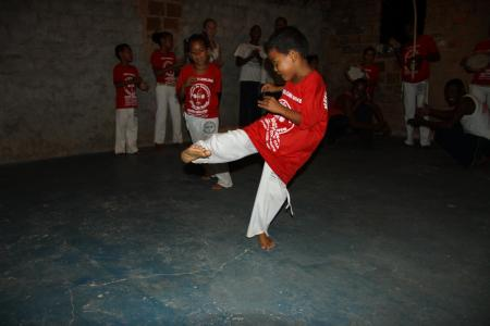 Sport in Capoeira Gruppe in Bahia, Brasilien