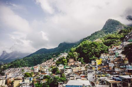 Ausblick auf Favela in Rio de Janeiro