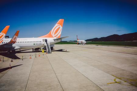 Flugzeuge am Flughafen Florianopolis