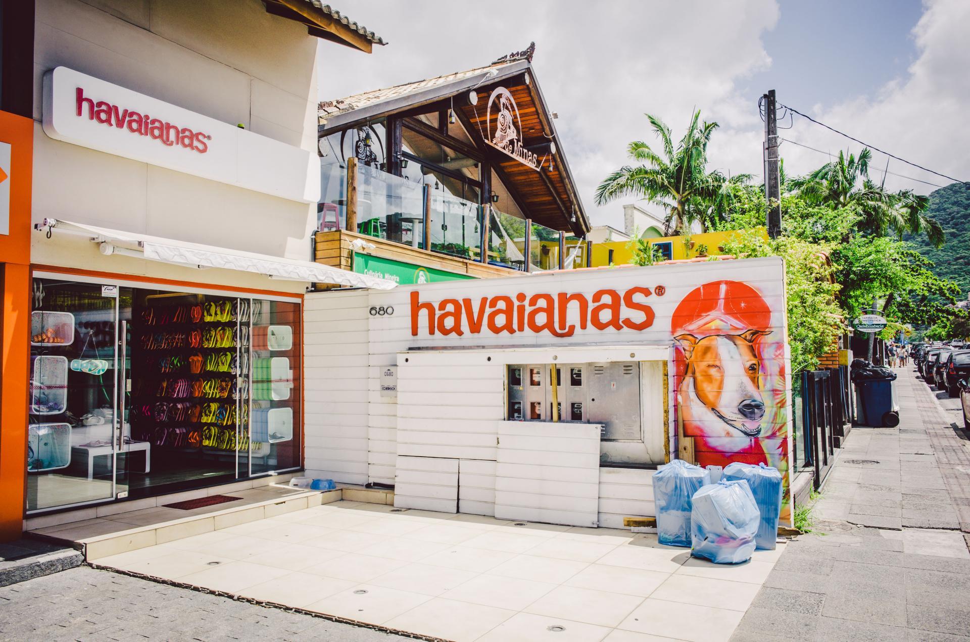 Eigener Laden der brasilianischen Marke Havaianas in Florianopolis