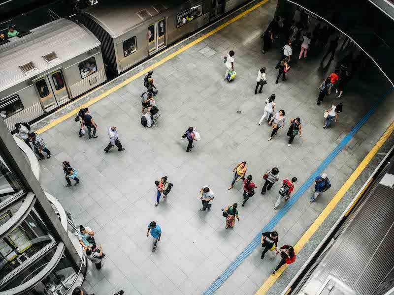 Menschen in Sao Paulo