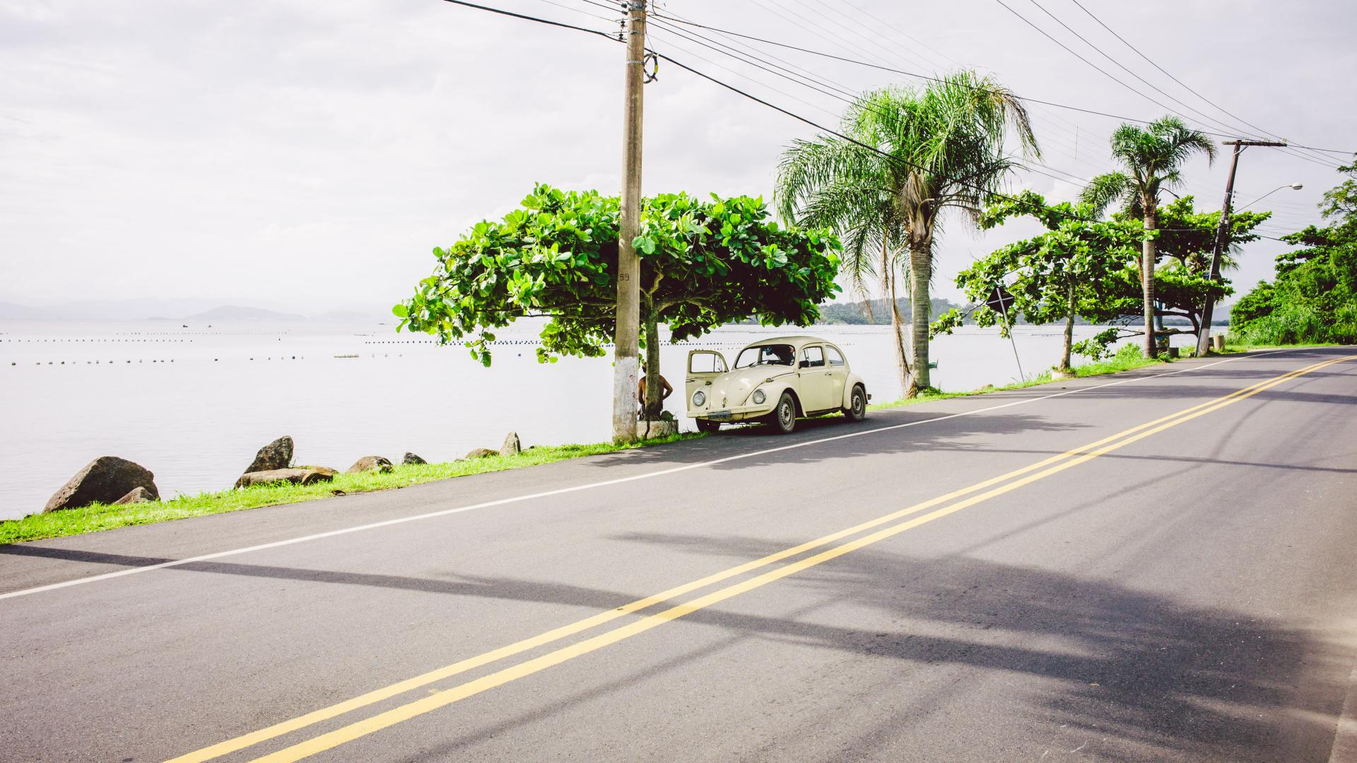 Aussicht auf Riberao da Ilha in Florianopolis