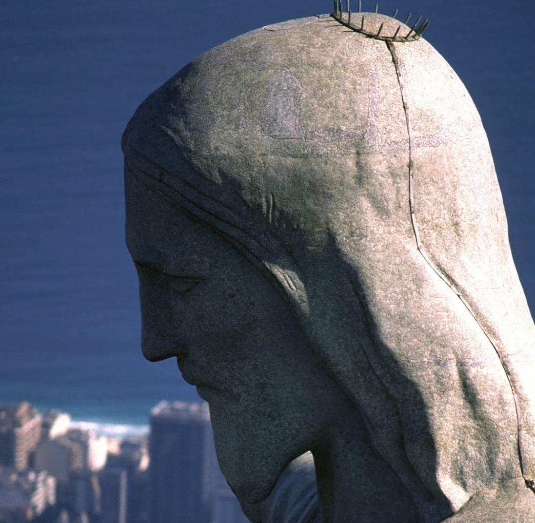 Kopf der Christusstatue in Rio