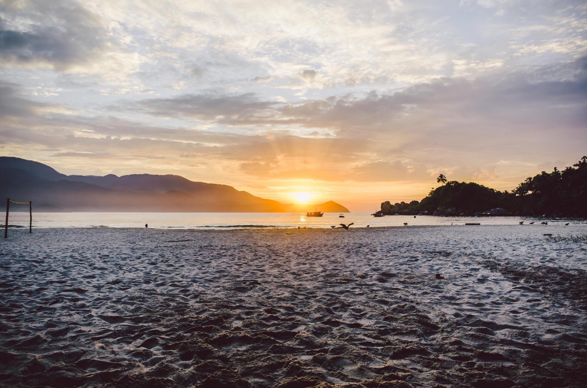 Ansicht des Sonnenaufganges Ilha Grande