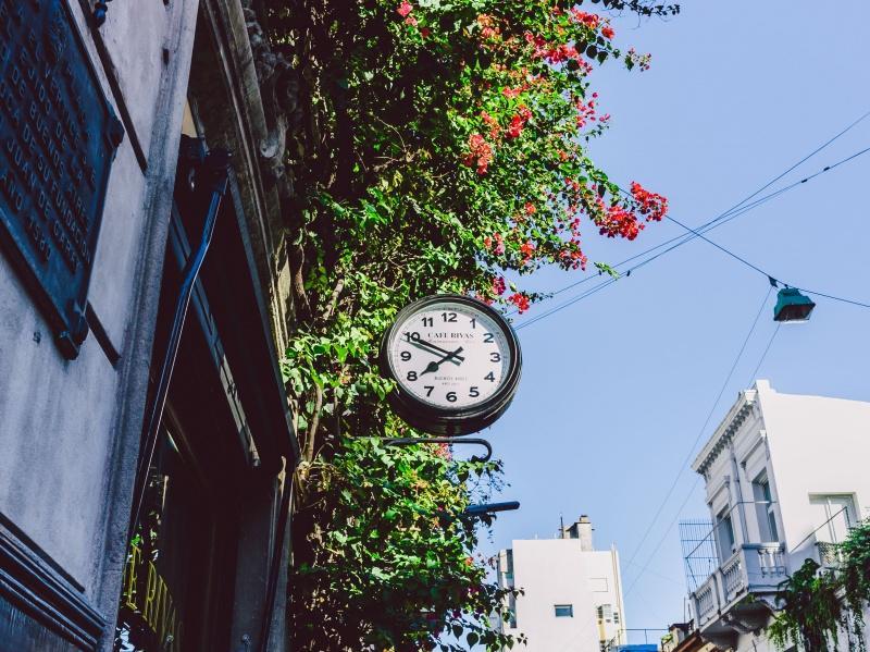Uhr in Südamerika