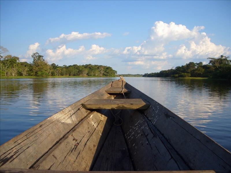 Boot auf dem Amazonas in Brasilien