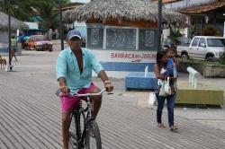 Fahrradfahrer in Brasilien