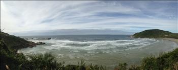 Panoramablick über Praia do Rosa