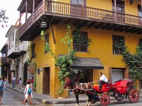 Exotische Kultur in einem Dorf in Kolumbien