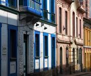 Historische Gebäude in einer kolumbianischen Stadt