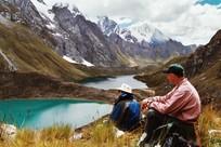 Wander Reise durch die Berge von Peru