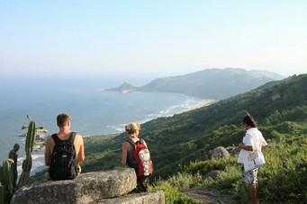 Aussicht auf die Küste von Florianopolis