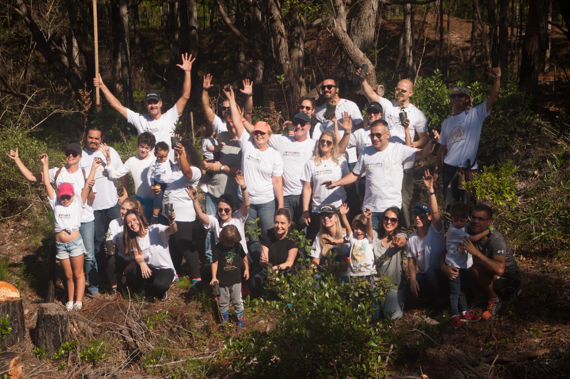 Begeisterte Unterstützer des Salve Floripa Projektes