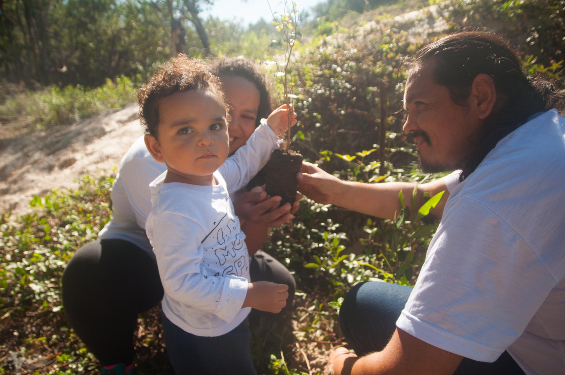 Familie unterstützt Salve Floripa