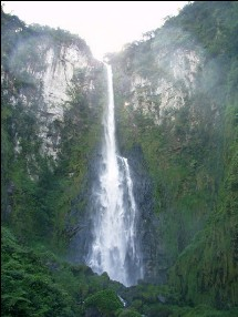 Wasserfall auf der Rota das Cachoeiras