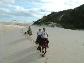 Reiten am Strand in Florianopolis