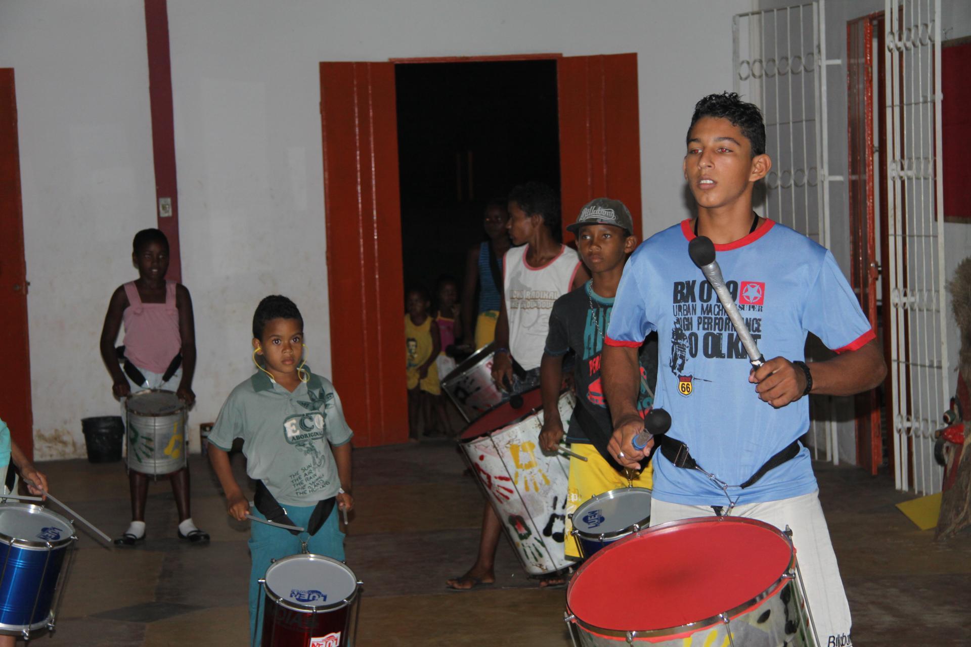 Trommelgruppe in Bahia