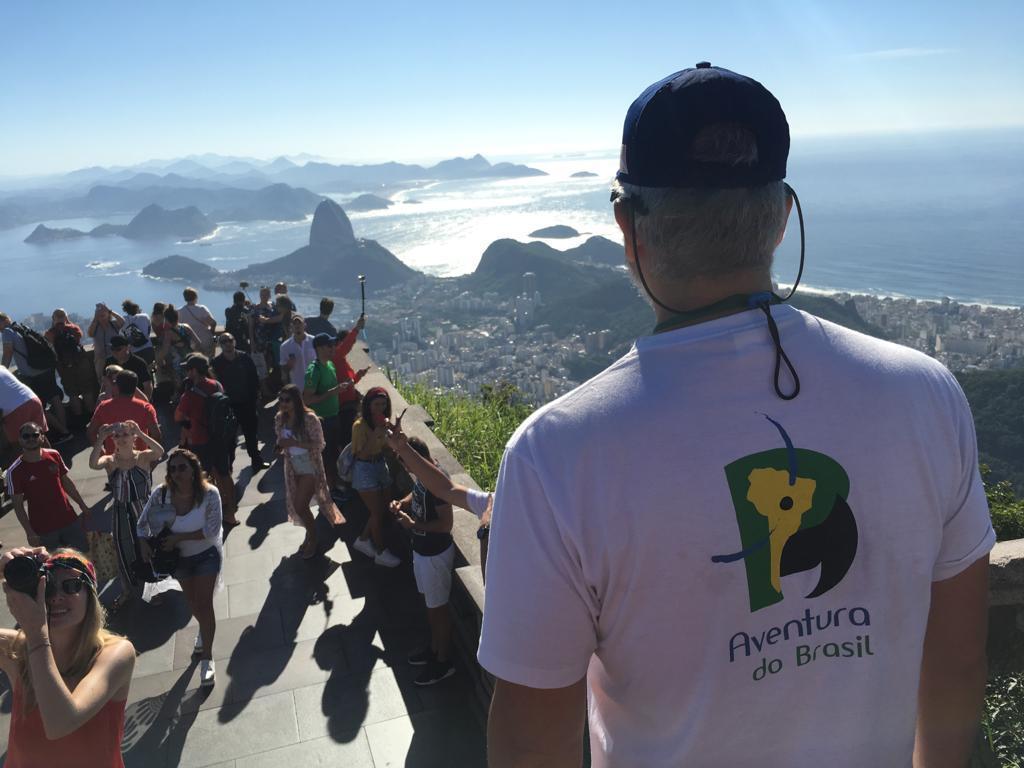 Guide von Aventura do Brasil auf dem Corcovado in Rio