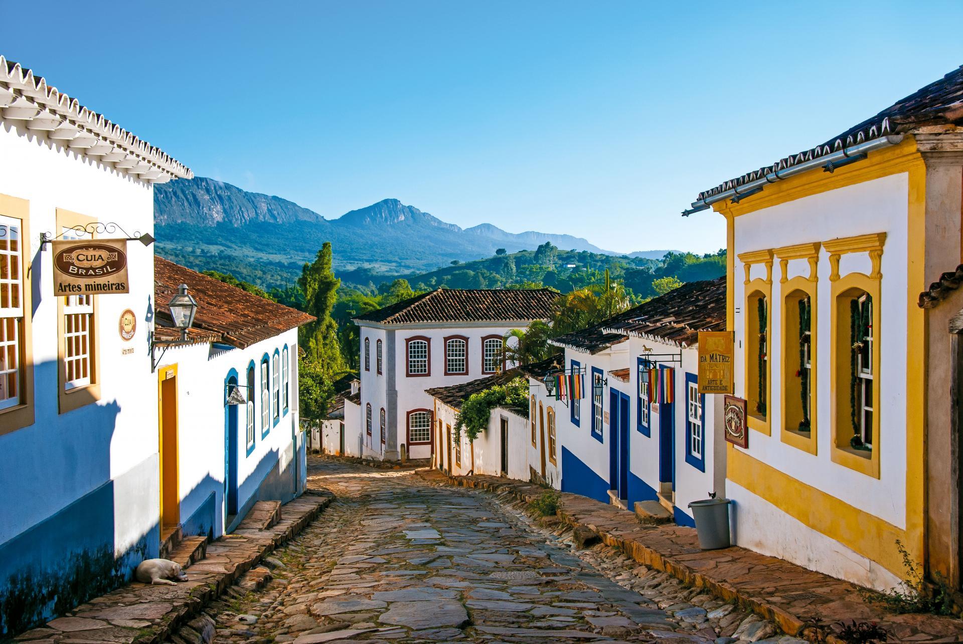 Malerische Straße in Tiradentes