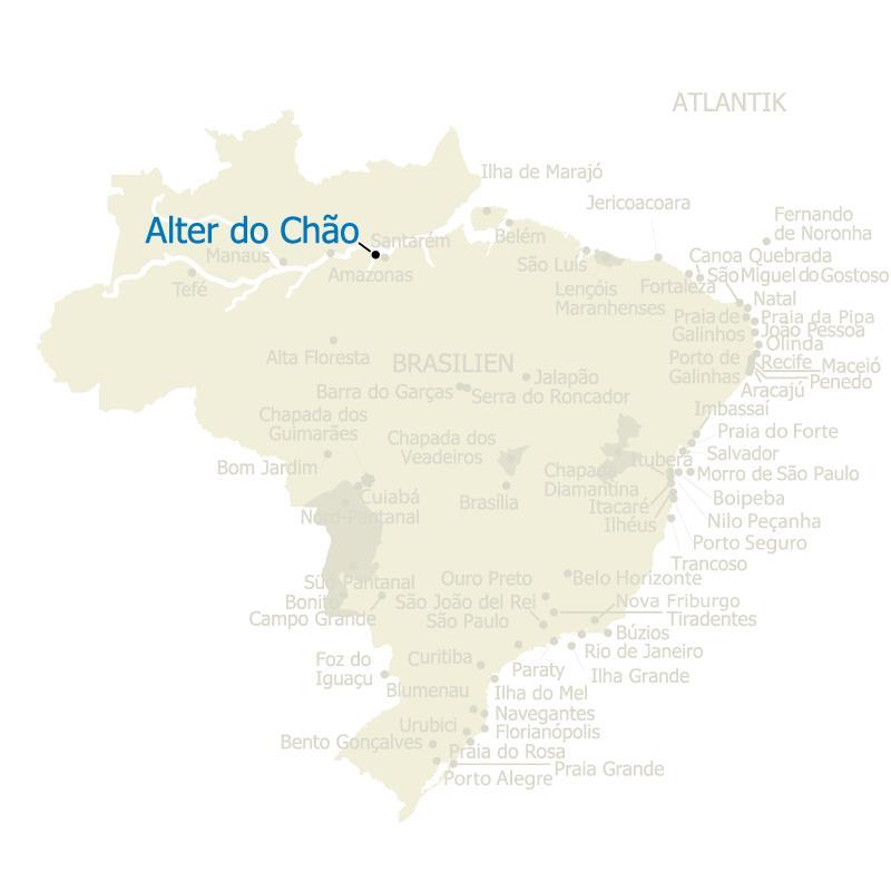 Brasilien Karte Alter do Chao