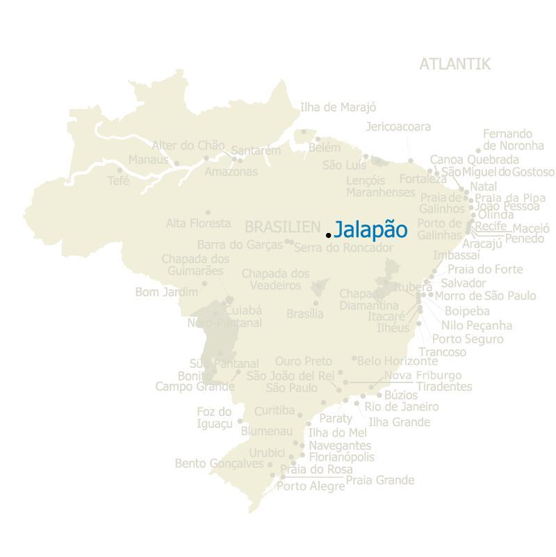 Jalapao Brasilien Karte