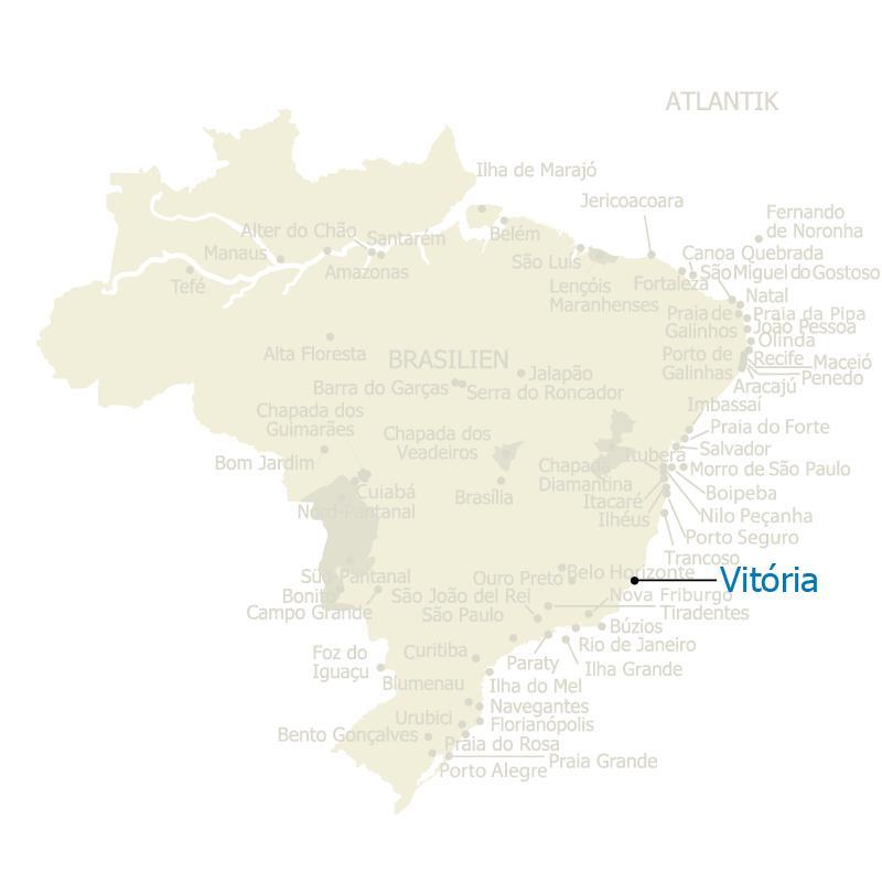 Brasilien Karte mit Vitoria